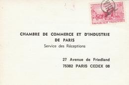 1718 OBLITÉRÉ AVEC UN CACHET De BUREAU CENTRAL D'ARRONDISSEMENT (PARIS VIII) En 1972 - Postmark Collection (Covers)