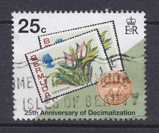 Bermuda 1995 Mi. 669    25 C Dezimalwährung Stamp On Stamp - Bermuda