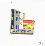 Pin's PTT - La Poste / LMCT Avec TGV. Estampillé Pin's Média. Métal Peint. T670-21 - Mail Services