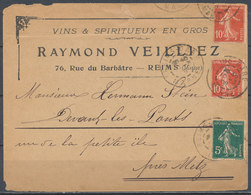 FRANCE - 1908 Cover - Postmark Collection (Covers)