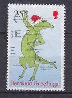 Bermuda 1998 Mi. 753    25 C Weihnachten Christmas Kinderzeichnung Eidechse Mit Lichterkette - Bermuda