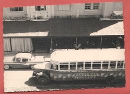 Tram Bus Pullman Auto Cars Wagen Voitures Old Photo Caracas 1958 - Automobili