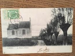 CPA, Veurne - Furnes - La Route D'Ypres, écrite En 1910, Timbre, éditions Th. Van Den Heuvel - Veurne