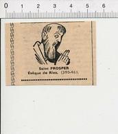 Presse 1951 Saint Prosper Evêque De Riez / Religion Saints  51C12 - Unclassified