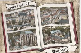 BEAUVAIS (60). Souvenir De ... Forme Livre: 4 Vues - Beauvais
