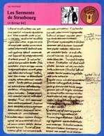 Les Serments De Strasbourg 842  Histoire De France  Vie Politique - Histoire