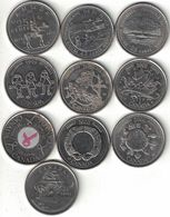 Canada Collection Of 10 Commemorative 25 Cent Coins 1973-2004 All Listed & Different - Canada