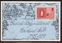British Virgin Islands 1979 Queen Elizabeth Mini Sheet Celebrating Death Centenary Of Rowland Hill. - British Virgin Islands