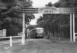 Camp De La BRACONNE - Allée Centrale - 126e Bataillon D'Infanterie - Départ Permissionnaires - Autobus Robin, Angoulême - Autres Communes