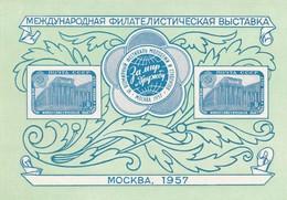 Russia - Mint Shet 1957-  Esposizione Filatelica Internazionale Di Mosca. Cat. Unificato Bf. N. 22 - Nuovi