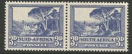 South Africa - 1949 Groote Schuur 3d  Bilingual Pair MNH **    SG 117   Sc 57 - Unused Stamps