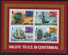 British Virgin Islands 1976 Queen Elizabeth Mini Sheet Celebrating American Revolution. - British Virgin Islands