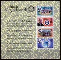 British Virgin Islands 1980 Queen Elizabeth Mini Sheet Celebrating 75th Anniversary Of Rotary International. - British Virgin Islands