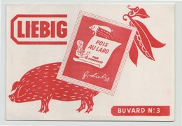 Buvard ( 20 X 14.5 Cm ) Liebig Pois Au Lard - Sopas & Salsas