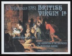 British Virgin Islands 1981 Queen Elizabeth Mini Sheet Celebrating Christmas. - British Virgin Islands