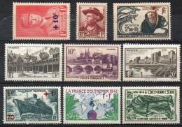 FRANCE 1941 - Lot De 8 Valeurs - N° 494 à 504 - (Sans Les N° 497, 498 Et 501) - (**) - France