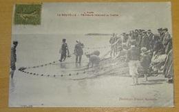 Cpa - L'aude - La Nouvelle - Pêcheurs Relevant La Traîne - Port La Nouvelle