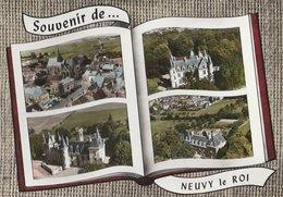 NEUVY-LE-ROI (49). Souvenir De ... Forme Livre, 4 Vues: Dont Vue Sur L'Eglise - Neuvy-le-Roi