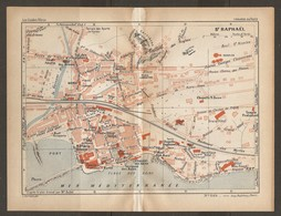 CARTE PLAN 1934 N° 664 - St RAPHAEL CASINO BAINS CARRIERES TOURING CLUB DE FRANCE - Topographische Kaarten
