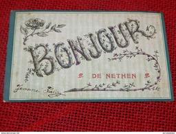 NETHEN    -  Bonjour De Nethen    - (carte Perlée) - Grez-Doiceau