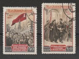 Russia - Usati  - 36° Ann. Rivoluzione D'Ottobre.. Cat. Unificato N. 1662/63 - 1923-1991 USSR