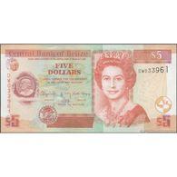 TWN - BELIZE 67g - 5 Dollars 1.5.2016 Prefix DW UNC - Belize