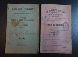 2 Livrets De Sociétaire_La Mutualité Scolaire De Romans Drôme Et St Marcellin Isère 1912 - 1914 - Diploma & School Reports