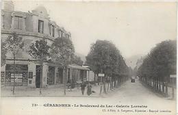 88, Vosges, GERARDMER, Le Boulevard Du Lac - Galerie Lorraine, Scan Recto Verso - Gerardmer