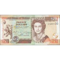 TWN - BELIZE 69f - 20 Dollars 1.1.2017 Prefix DT UNC - Belize