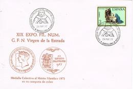 33068. Carta BARCELONA 1977. Exposicion Virgen De La Estrada - 1931-Hoy: 2ª República - ... Juan Carlos I