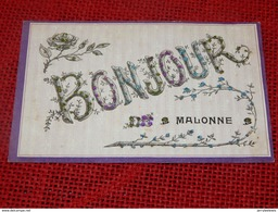 MALONNE  -  Bonjour De Malonne  - (carte Perlée) - Namur