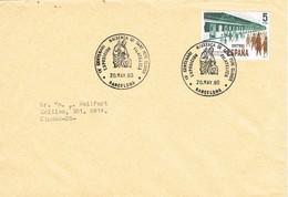 33069. Carta BARCELONA 1980. Exposicion IV Centenario St. PERE CLAVER - 1931-Hoy: 2ª República - ... Juan Carlos I