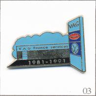 Pin's Automobile - Audi-Volkswagen / VAG France Services 1981-91. Estampillé Decat. Zamac. T671-03 - Audi