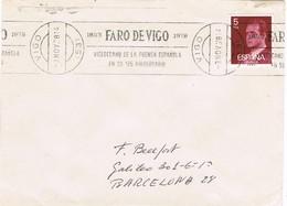 33071. Carta VIGO (Pontevedra) 1978. Rodillo Prensa, FARO De VIGO 125 Aniversario - 1931-Hoy: 2ª República - ... Juan Carlos I