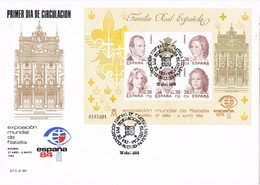 33072. Carta F.D.C. MADRID 1984, Expo Filatelia ESPAÑA 84, Hojita Familia Real, Num 2754 º - 1931-Hoy: 2ª República - ... Juan Carlos I