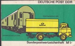 Wib_ DDR - Markenheftchen Mi.Nr. SMHD 9 Ba - Postfrisch MNH - Mit Druckvermerk - Blocchi