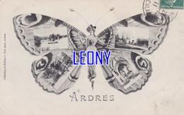 CPA  D' ARDRES   (62) -  FEMME PAPILLON Et VUES DIVERSES - Collect J. CERF -1911 - Ardres