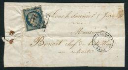 FRANCE  ( POSTE ) : Y&T  N° 4  BLEU , SUR  FRAGEMENT , BIEN  OBLITERE . - 1849-1876: Période Classique