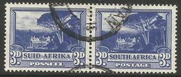 South Africa - 1951 Groote Schuur 3d  Bilingual Pair Used    SG 117a - South Africa (...-1961)