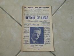 Retour De Liège (Musique Émile Van Herck) Partition 1935 - Scores & Partitions