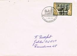33077. Carta VALLADOLID 1978. Exposicion Filatelica, Matasellos Catedral - 1931-Hoy: 2ª República - ... Juan Carlos I
