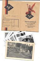 POCHETTE De NEGATIFS De PHOTOS AGFA  - PHOTO STELLA Rue Championnet PARIS +  9 Photos D'origine à Localiser - Other