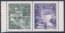 "Sweden Sverige 1995 Mi 1887 /8 Do SG 1811 /2 ** ""Wilhelm Tham"" Motor Barge, Gota Canal + Moored Yacht, Lake Vattern - Vakantie & Toerisme"