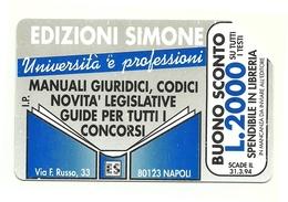 Italia - Tessera Telefonica Da 5.000 Lire N. 253 - 31/12/94 Edizione Simone - Italia