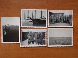 ILE DE GROIX WW2 GUERRE 39 45  POCHE DE LORIENT SOLDATS ALLEMANDS VOILIERS SOUS MARIN CASEMATES - Groix