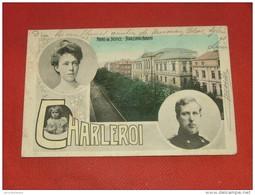 CHARLEROI  -  Palais De Justice - Boulevard Audent - Effigie Du Roi Albert Et Reine Elisabeth - 1908 - - Charleroi