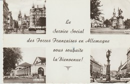 C. P. - PHOTO - LE SERVICE SOCIAL DES FORCES FRANÇAISES EN ALLEMAGNE VOUS SOUHAITE LA BIENVENUE - 4 VUES - FRIEBOURG - B - Regimientos