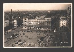 Brussel / Bruxelles - Gare Du Nord - Vue Prise De La Terrasse Du Bon Marché - Carte Photo - 1934 - Panoramische Zichten, Meerdere Zichten