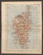 CARTE PLAN 1935 N° 234 - CORSE BASTIA CORTE CALVI SARTENE BONIFACIO GALERIA SOLENZARA ILE ROUSSE VENACO - Cartes Topographiques