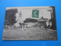 76 ) Raffetot - L'eglise Et Les écoles : Année 1915 - EDIT : Miserey - France